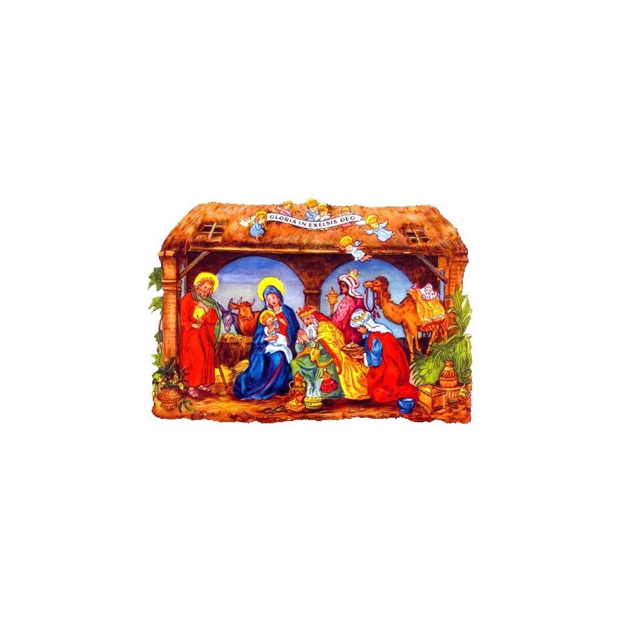 Alexander Taron Nativity Standing Christmas Card Ornament