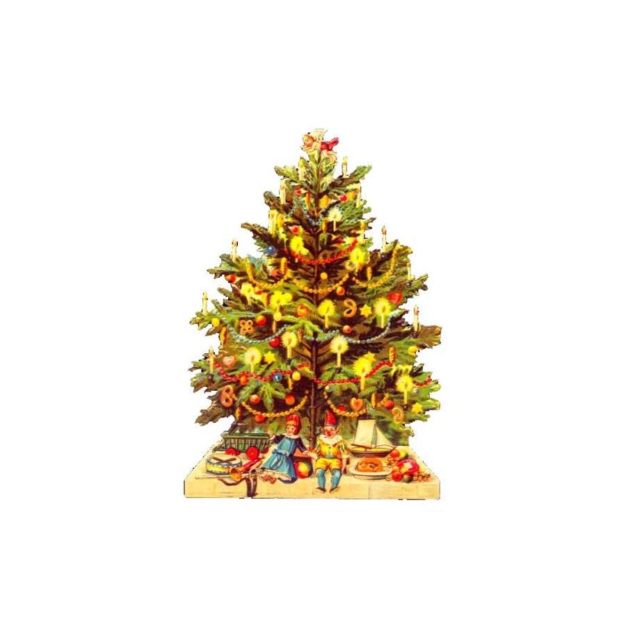Alexander Taron Tree/Angel Standing Christmas Card Ornament