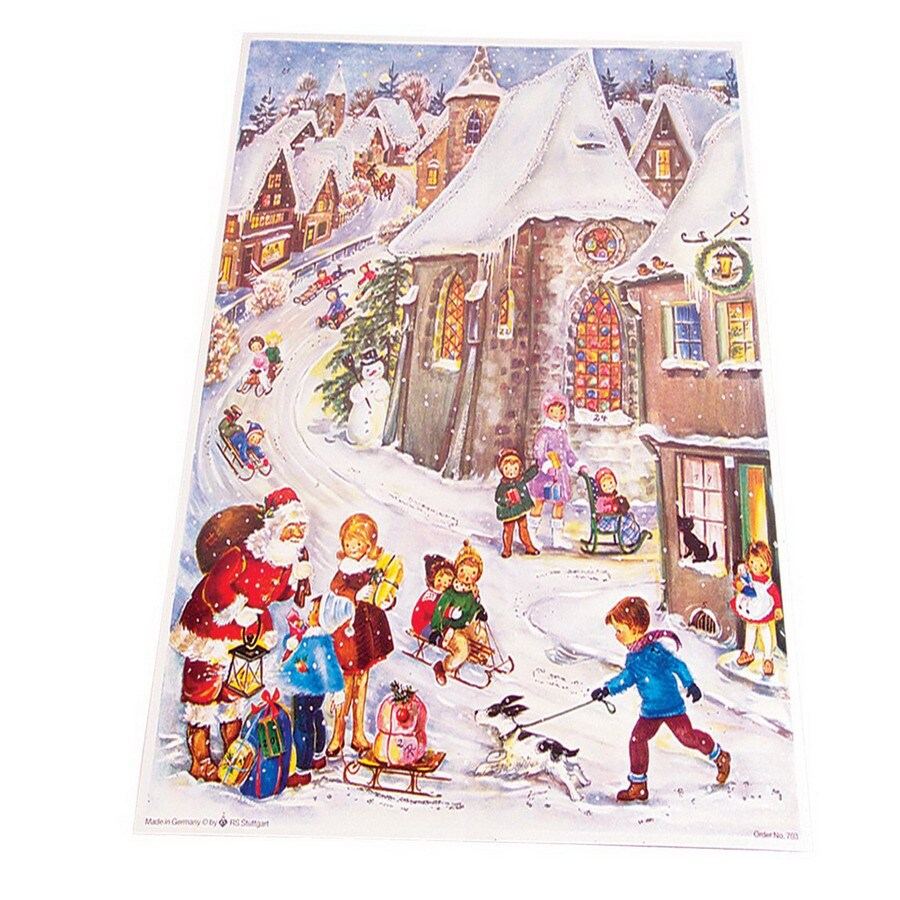 Alexander Taron Santa with Children On The Street Advent Calendar Ornament