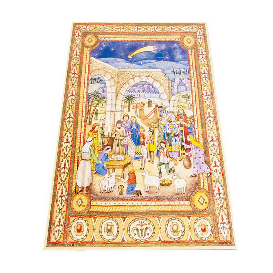 Alexander Taron Nativity Large Text Advent Calendar Ornament