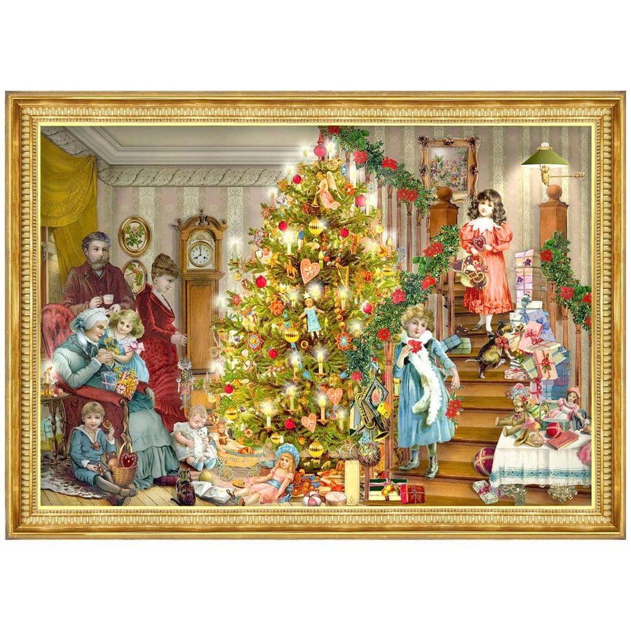 Alexander Taron Victorian Christmas Winter Scene Advent Calendar
