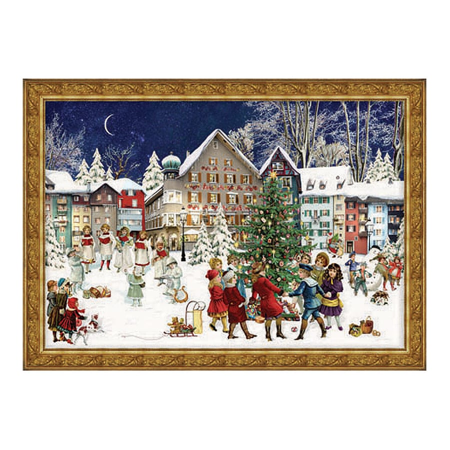 Alexander Taron Town Square Winter Scene Advent Calendar