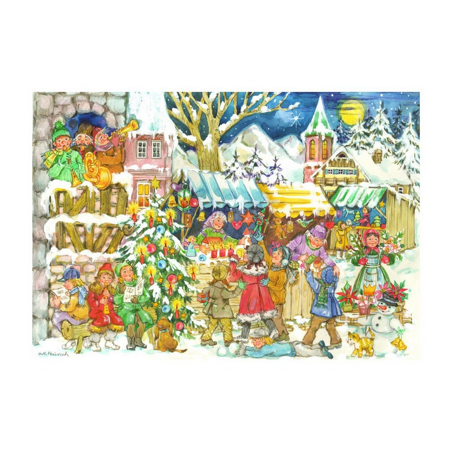 Alexander Taron Kindle Market Small Advent Calendar Ornament