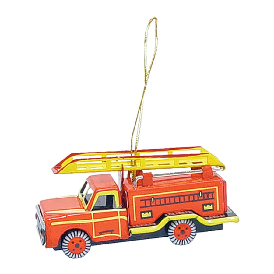 Alexander Taron Fire Engine Multiple Fire Truck Ornament