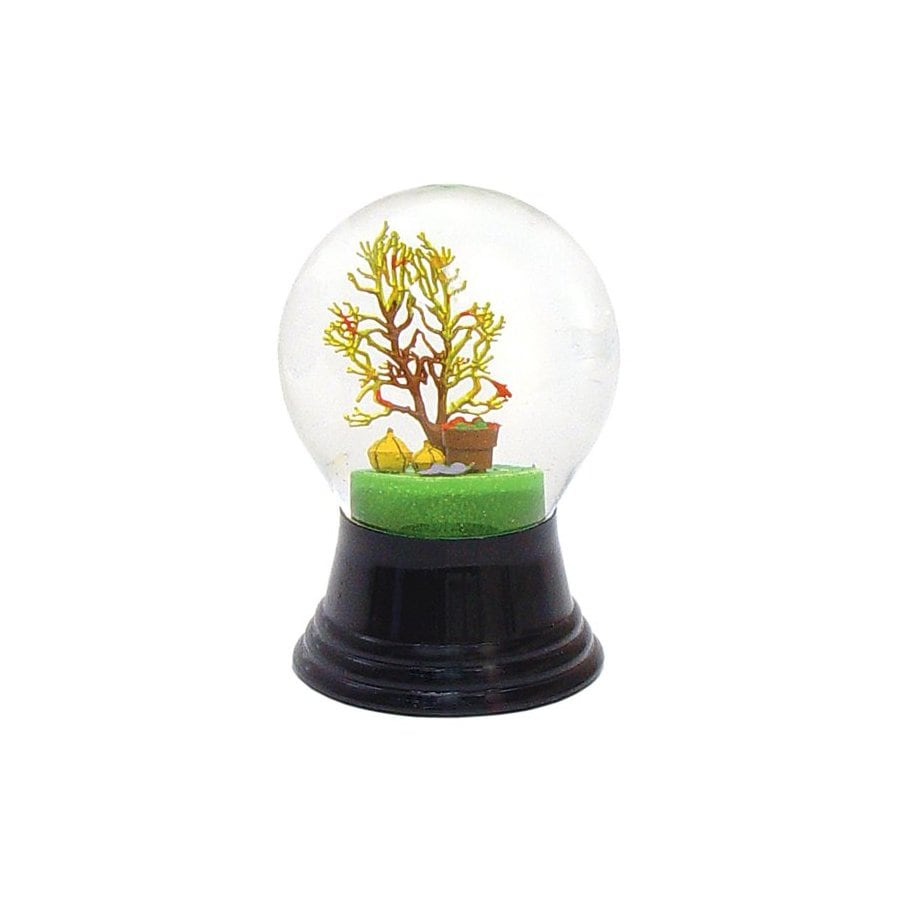 Alexander Taron Glass Harvest Tree Snow Globe Ornament