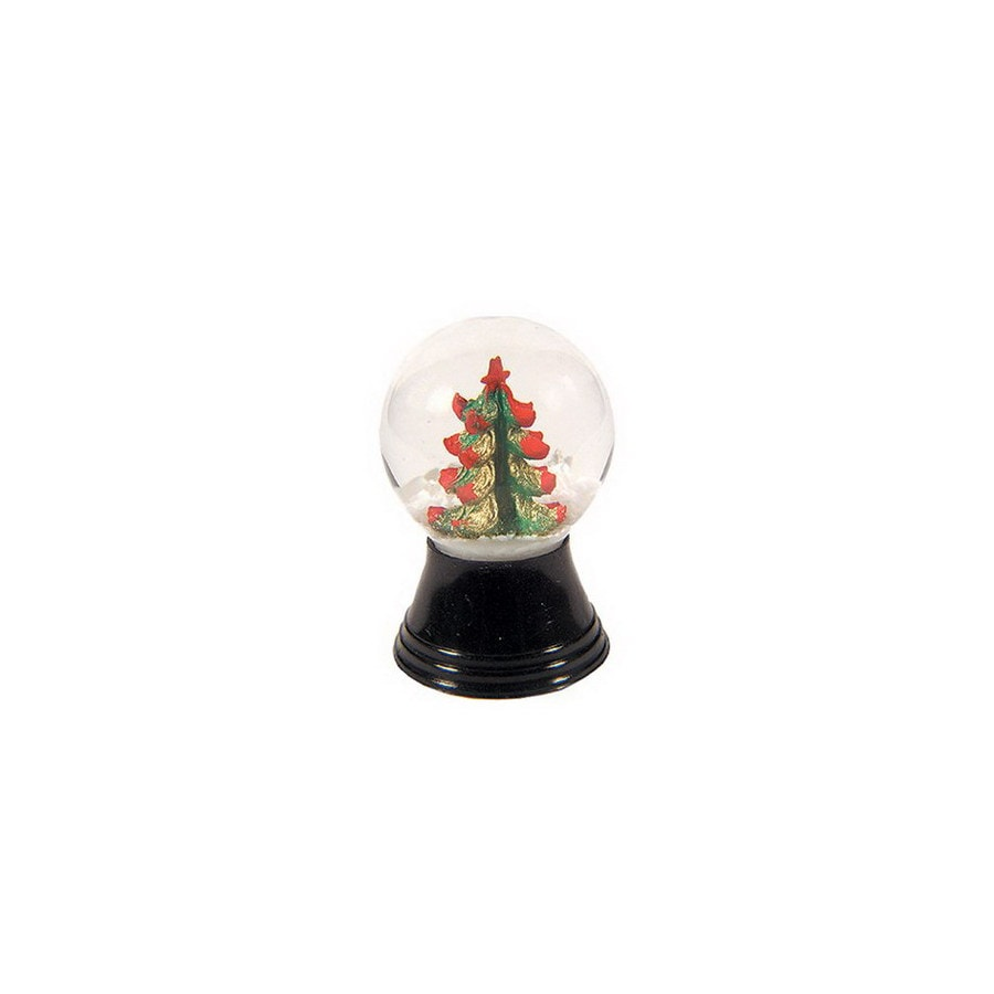 Alexander Taron Glass Mini Christmas Tree Snow Globe Ornament