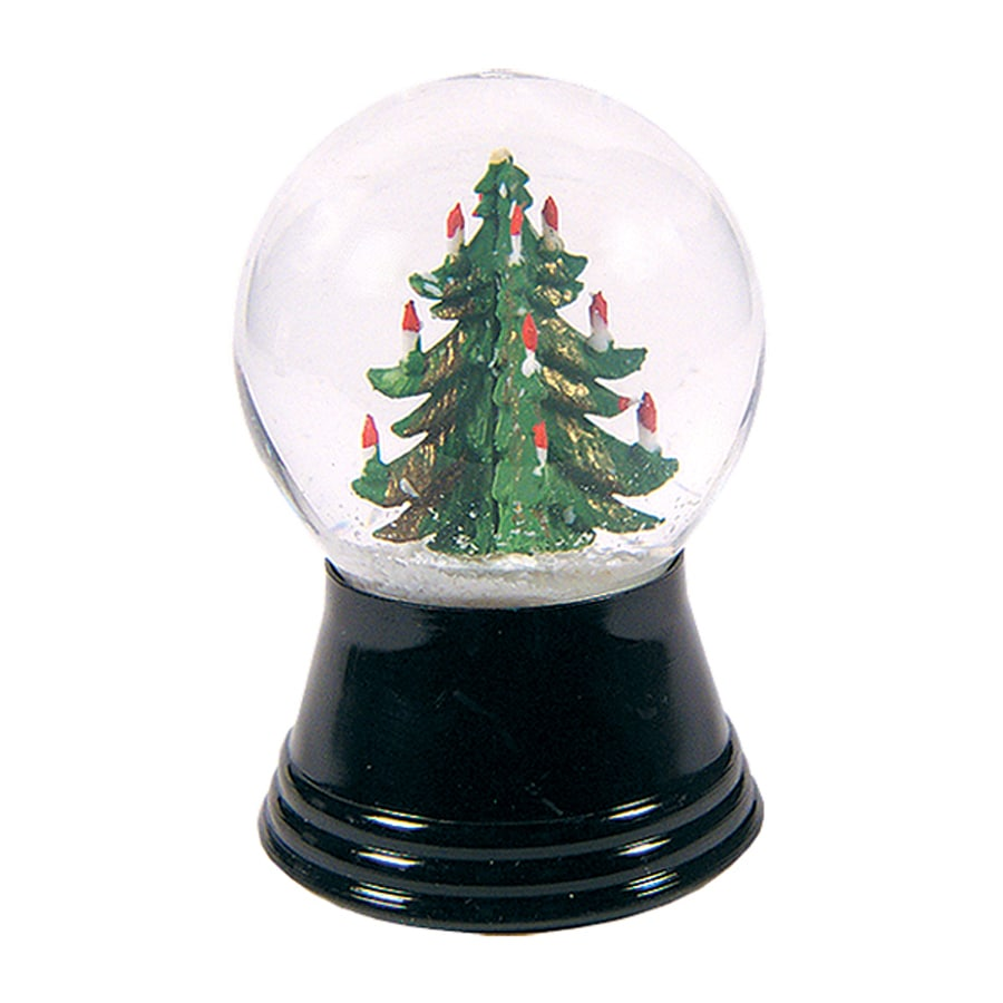Alexander Taron Christmas Tree Winter Scene Snow Globe