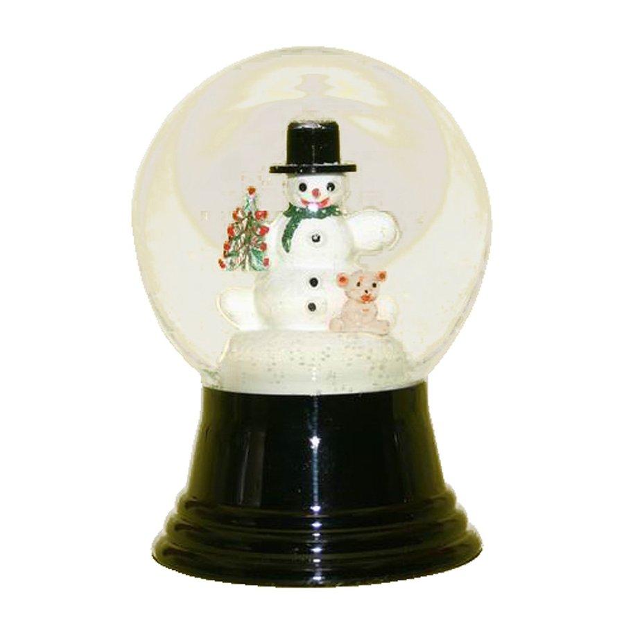 Alexander Taron Snowman with Bear Snowman Snow Globe