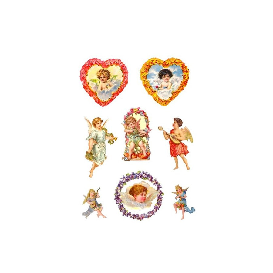 Alexander Taron 8-Pack Assorted Angels Table Decor Ornaments