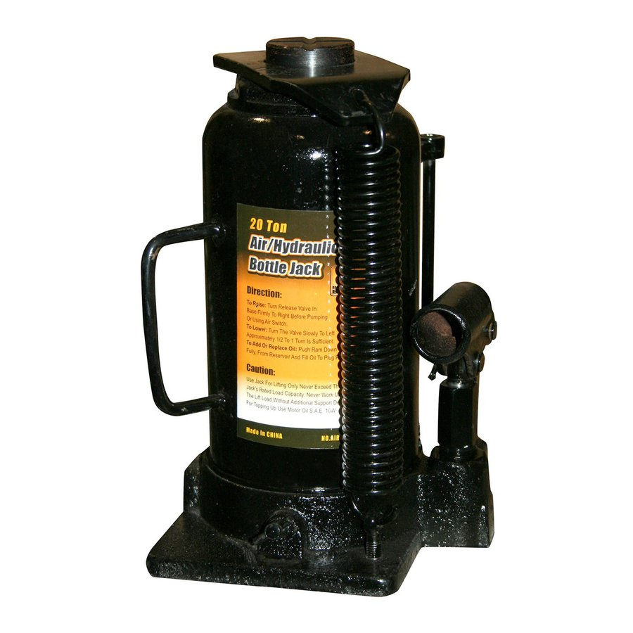 Buffalo 20-Ton Black Bull Air Bottle Jack