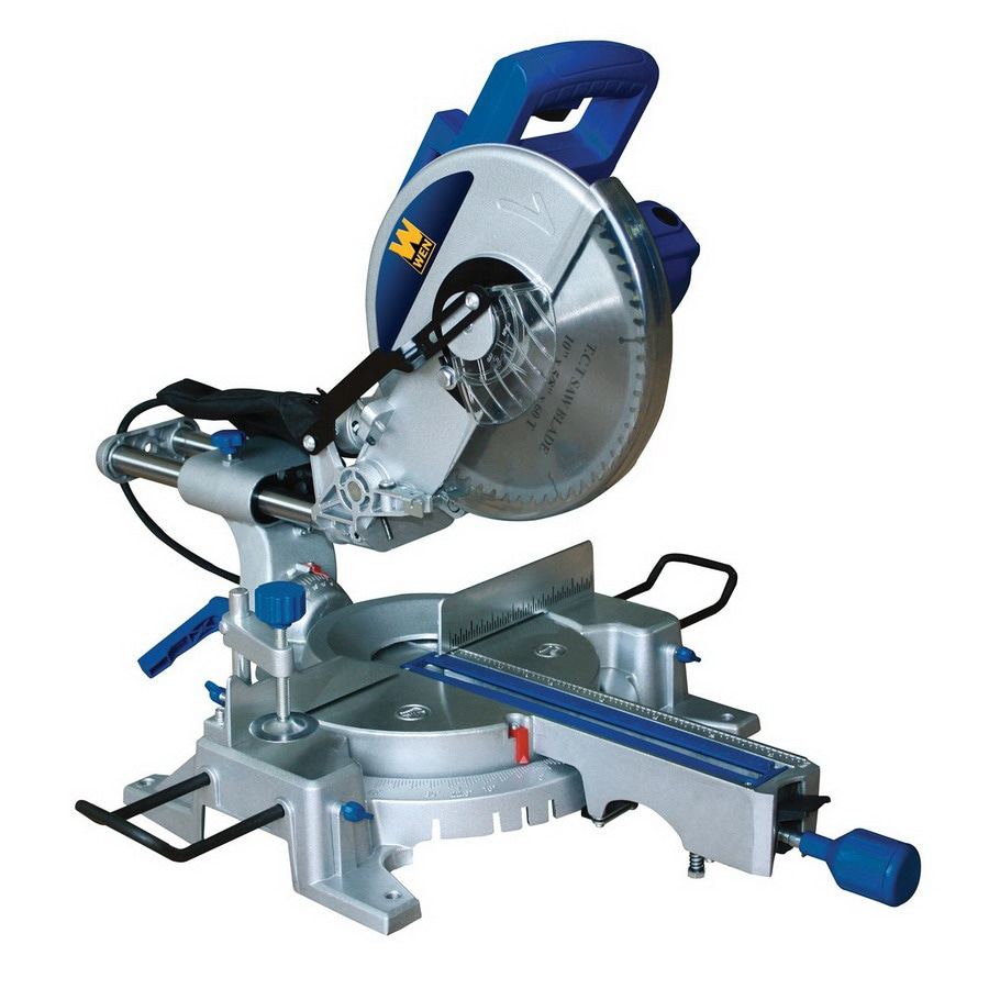 WEN 10-in Single Bevel Sliding Compound Miter Saw