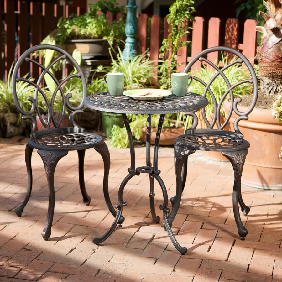 Charleston Home Decor Part - 48: Best Selling Home Decor Charleston 3-Piece Bronze Aluminum Bistro Patio  Dining Set