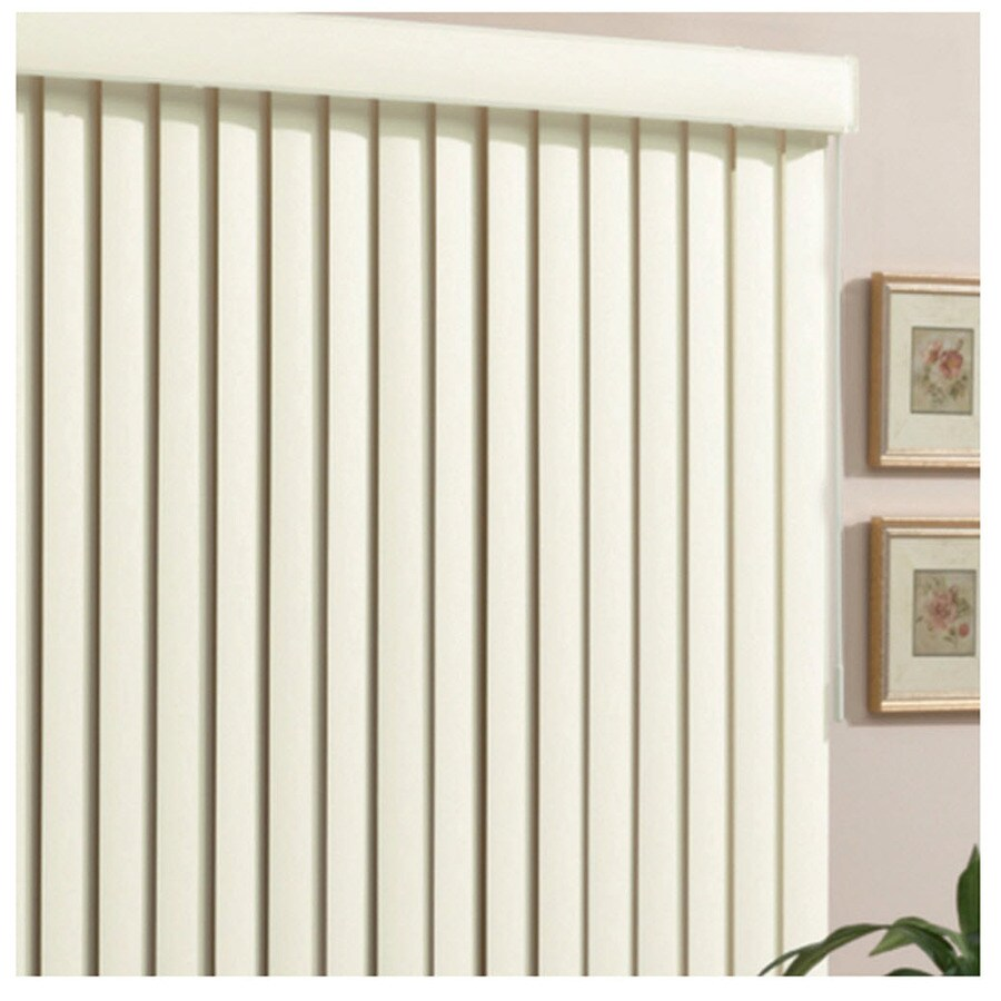 Style Selections 3.5 In Cordless Alabaster Vinyl Room Darkening Vertical  Blinds (Common 78