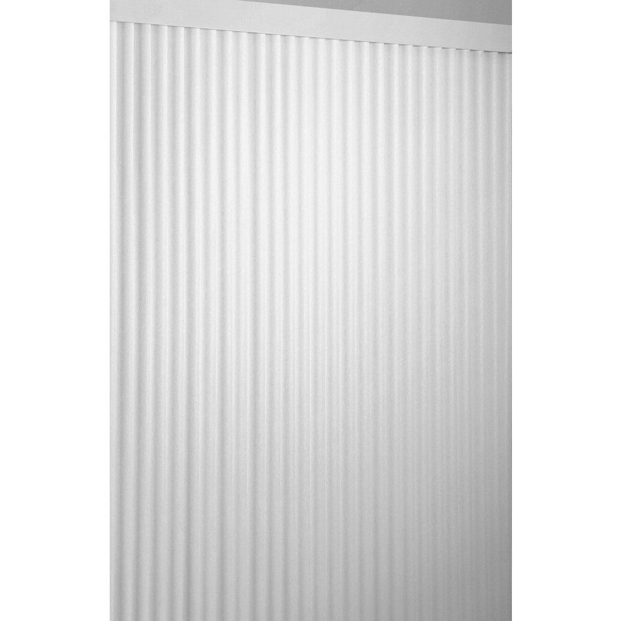 Style Selections 2.5-in Cordless White Vinyl Room Darkening Vertical Blinds (Common 104-in; Actual: 104-in x 84-in)