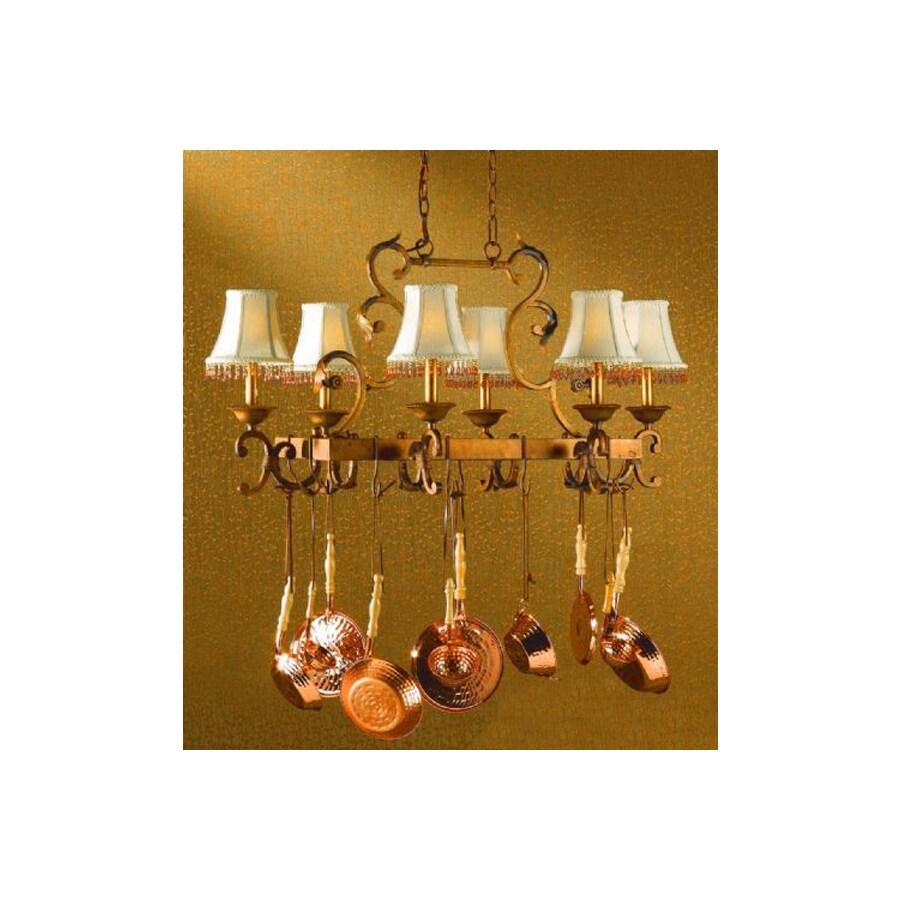 Classic Lighting 40-in x 24-in Copper-Bronze Hue Pot Rack