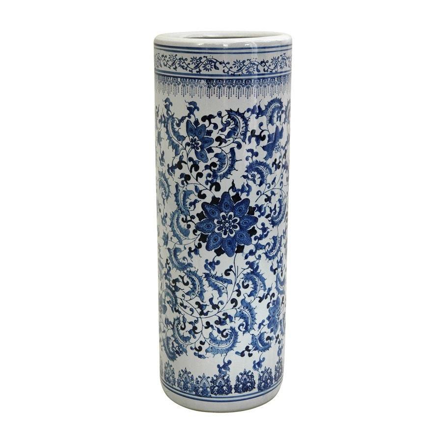 Shop Oriental Furniture Chinese Porcelain-Umbrella Blue/White Indoor ...