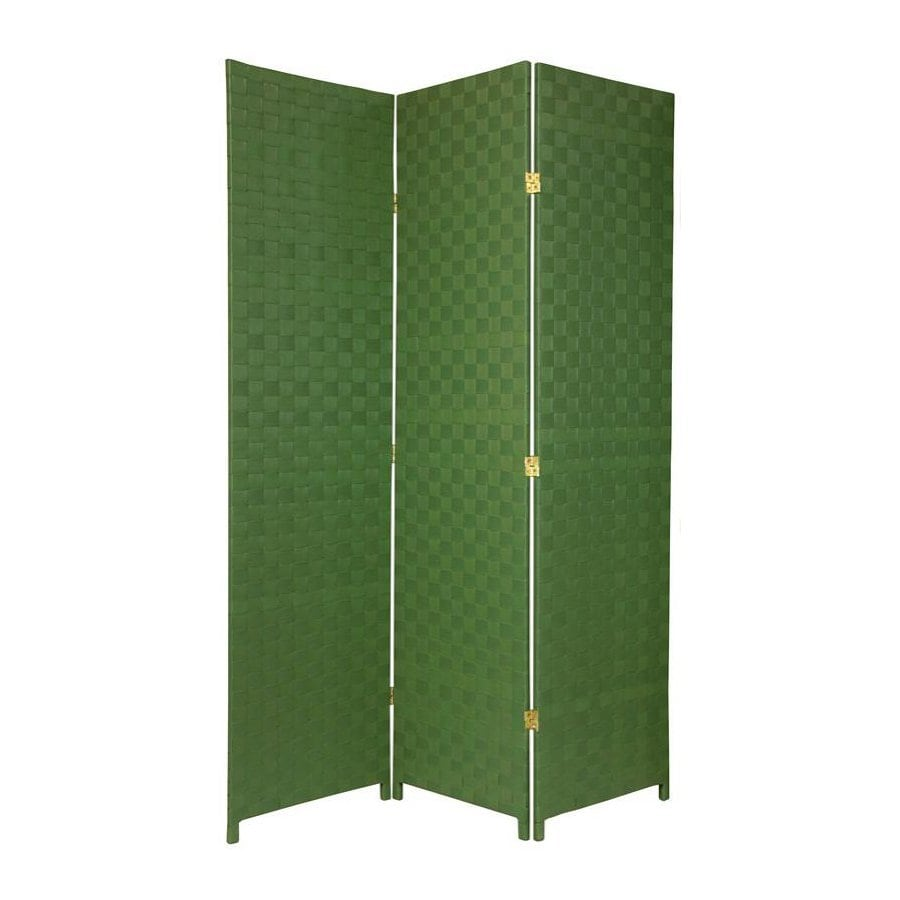 Oriental Furniture 52.5-in W x 71-in H Green Vinyl/Polyresin Outdoor Privacy Screen