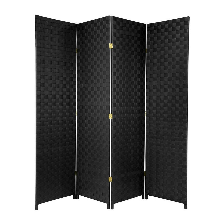 Oriental Furniture 70-in W x 71-in H Black Vinyl/Polyresin Outdoor Privacy Screen
