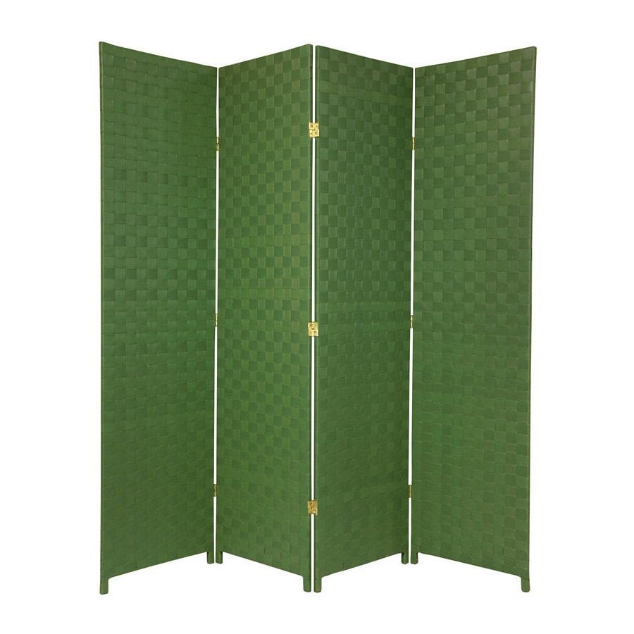 Oriental Furniture 70-in W x 71-in H Green Vinyl/Polyresin Outdoor Privacy Screen