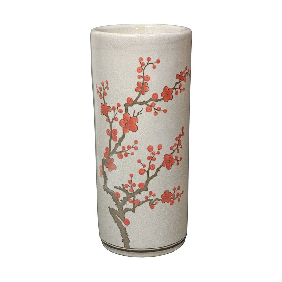 Shop Oriental Furniture Cherry Blossom-Umbrella Off-White Crackle ...