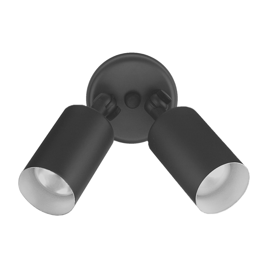 Nicor Lighting Black Double Cylinder Bullet Outdoor Wall Light