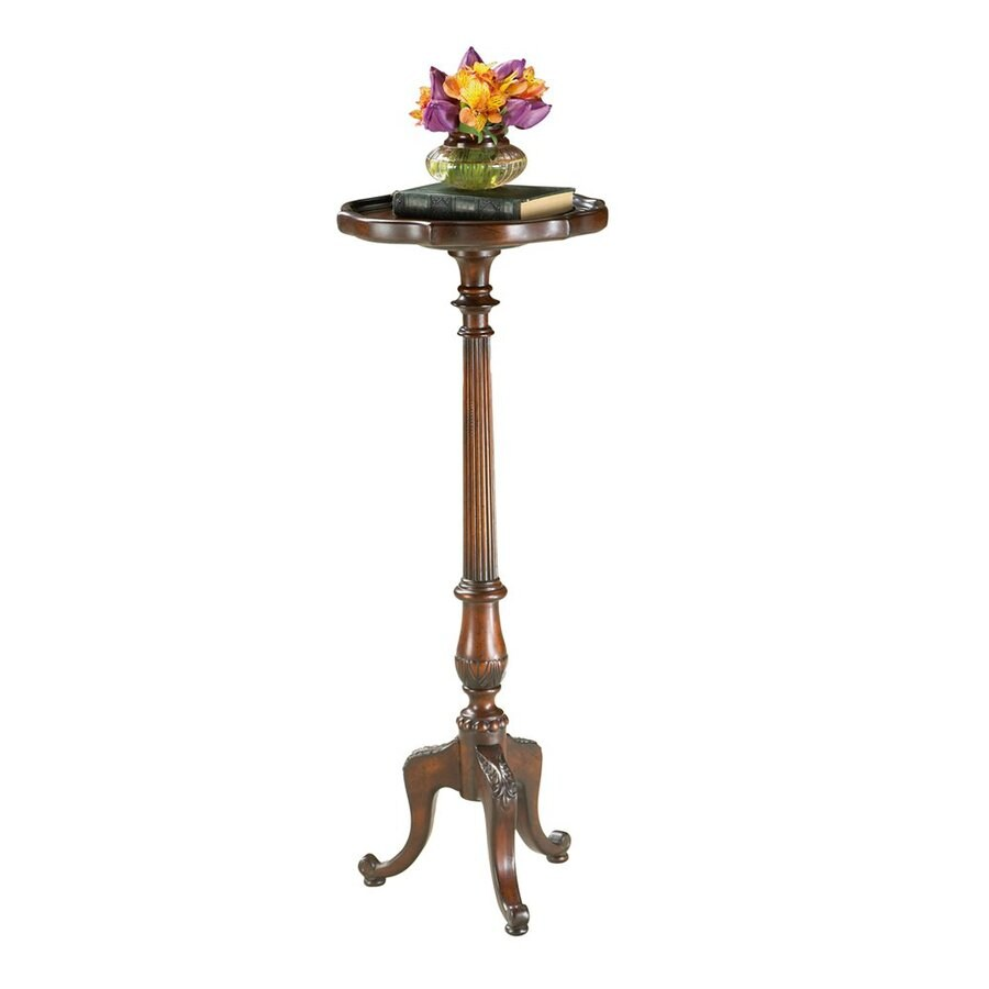 Butler Specialty 36.5-in Plantation Cherry Round Wood Plant Stand
