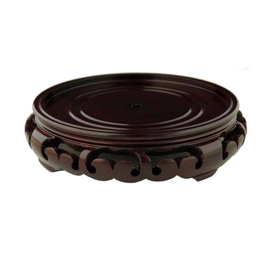 Oriental Furniture 2.5-in Rosewood Round Wood Plant Stand