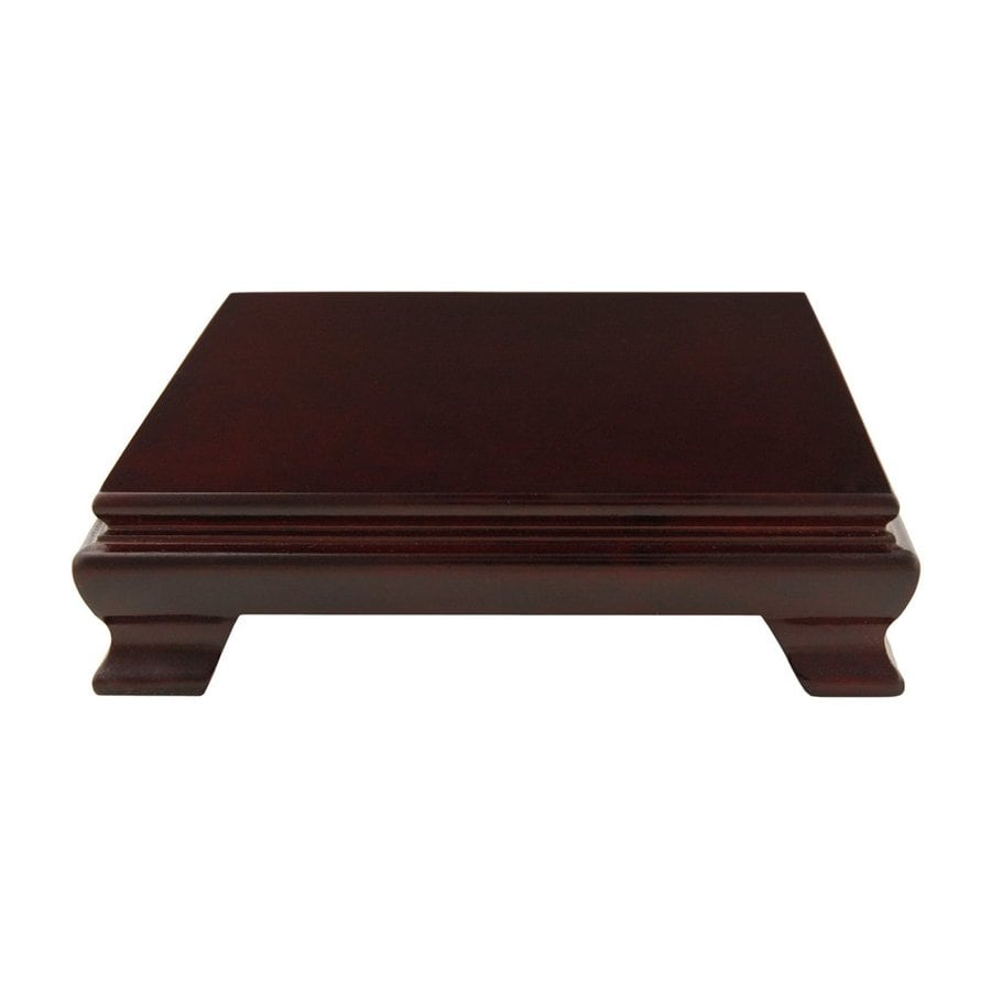 Oriental Furniture 1.13 In Rosewood Indoor Square Wood Plant Stand