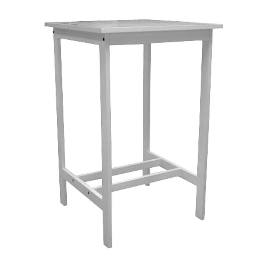 VIFAH Bradley 27.5-in W x 28-in L Square Acacia Wood Bar Table