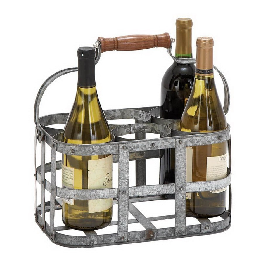 Woodland Imports 6-Bottle Tabletop Wine Rack