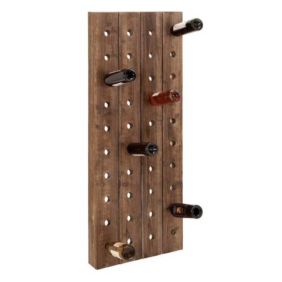 woodland imports 40bottle wallmount wine rack