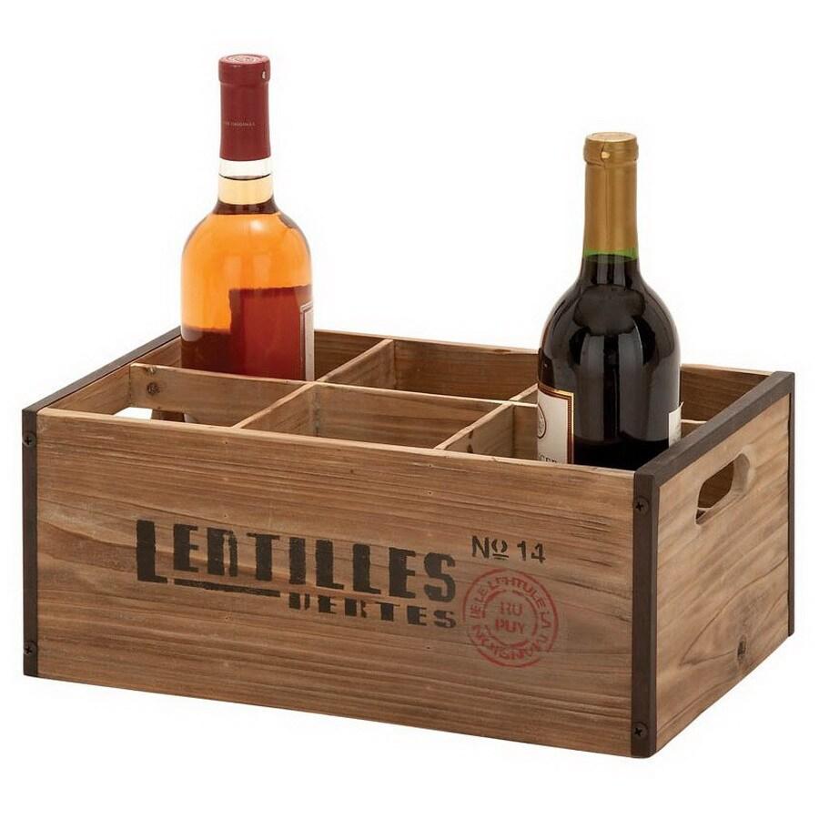 Woodland Imports Unique Home Accents 6-Bottle Tabletop