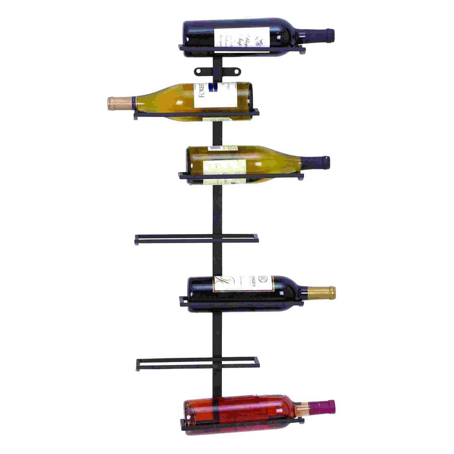 woodland imports modern 7bottle wallmount wine rack