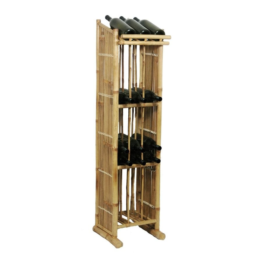 Bamboo 54 Natural Freestanding Wine Rack