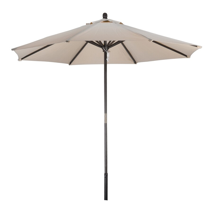 Phat Tommy Desert Tan Market Patio Umbrella (Common: 9-ft W x 9-ft L; Actual: 9-ft W x 9-ft L)