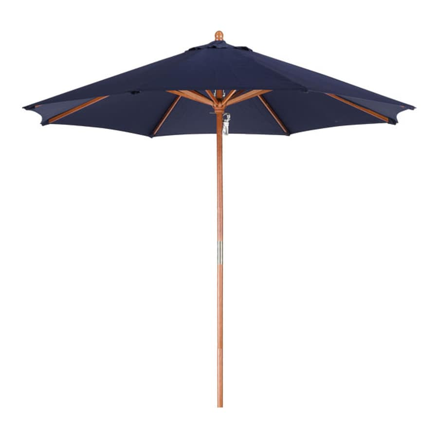 Phat Tommy Navy Blue Market Patio Umbrella (Common: 9-ft W x 9-ft L; Actual: 9-ft W x 9-ft L)