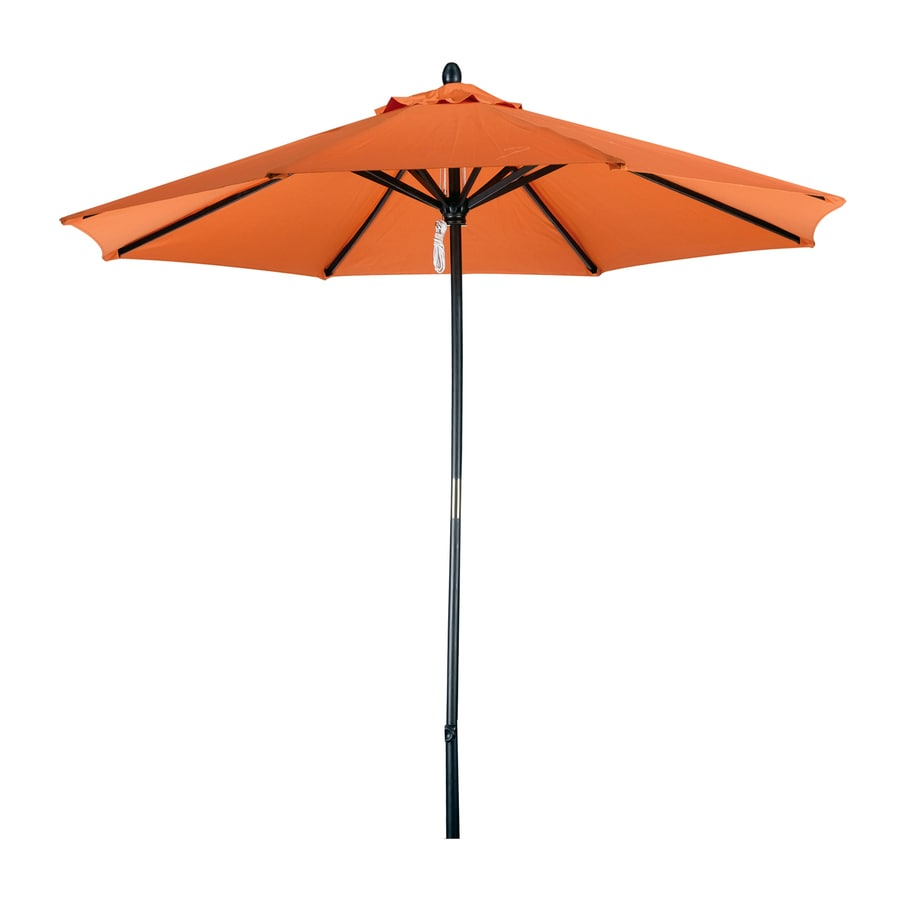 Phat Tommy Tuscan Orange Market Patio Umbrella (Common: 9-ft W x 9-ft L; Actual: 9-ft W x 9-ft L)
