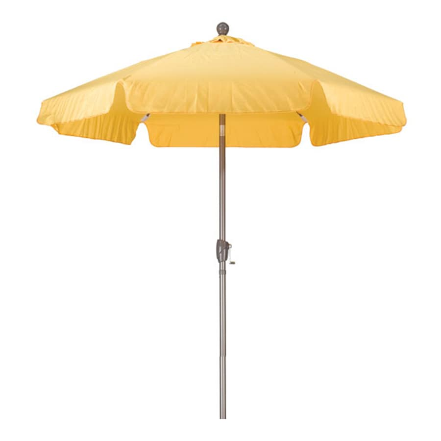 Phat Tommy Sunshine Yellow Garden Patio Umbrella (Common: 7.5-ft W x 7.5-ft L; Actual: 7.67-ft W x 7.67-ft L)