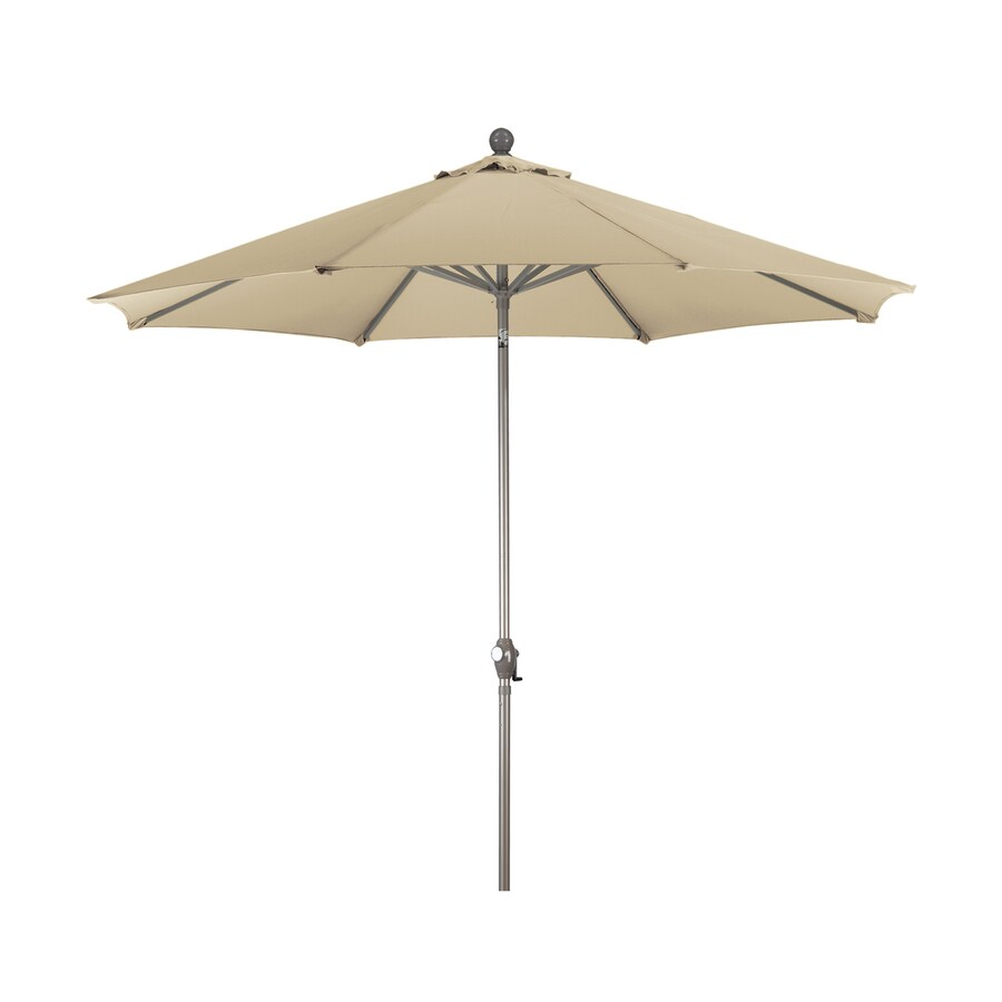 Phat Tommy Antique Beige Market Patio Umbrella (Common: 9-ft W x 9-ft L; Actual: 9-ft W x 9-ft L)