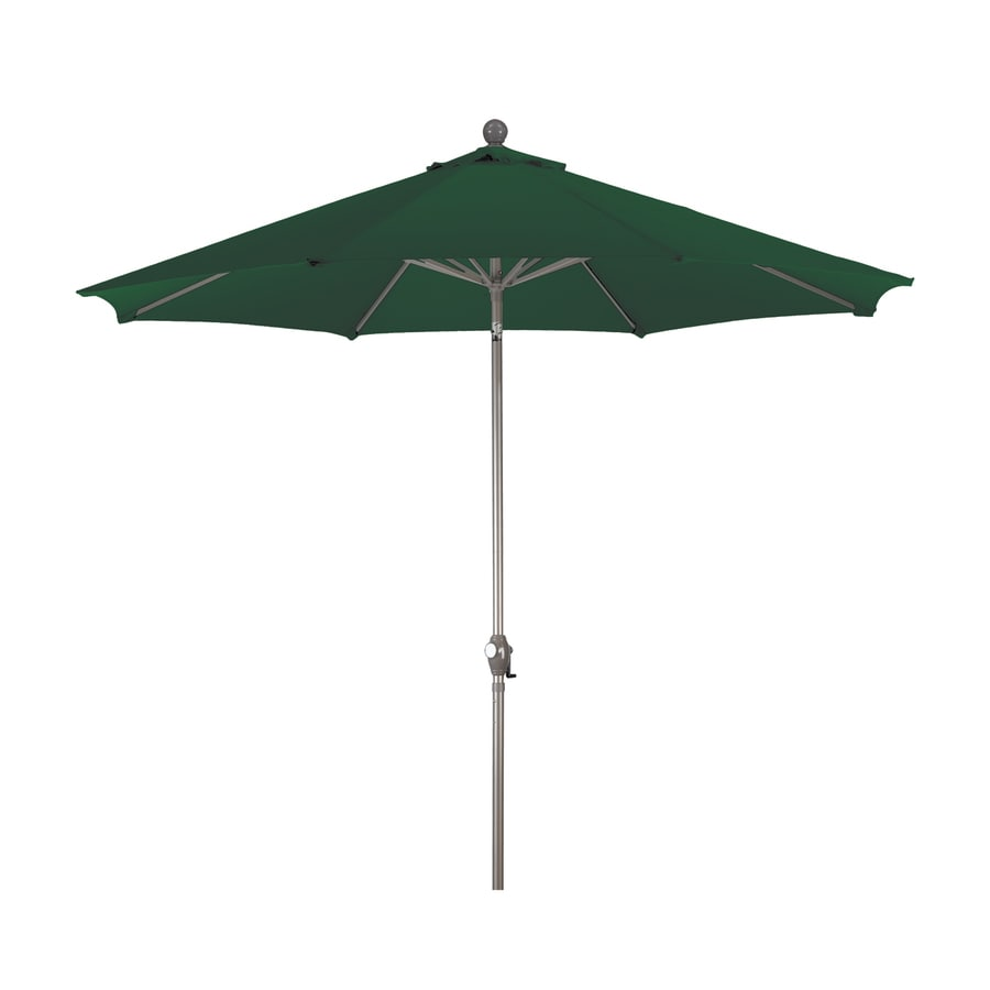 Shop phat tommy hunter green market patio umbrella common for Balcony umbrella