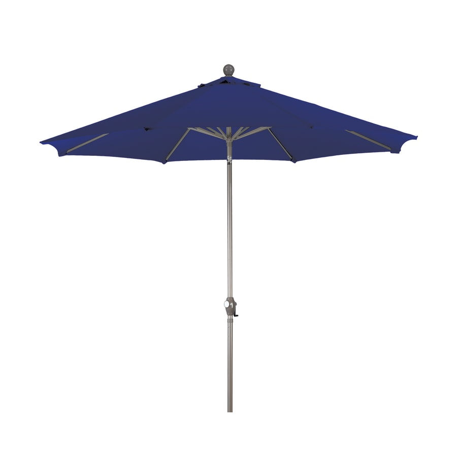 Phat Tommy Navy Blue Market Patio Umbrella (Common: 9 Ft W X 9