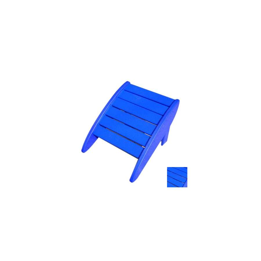 Phat Tommy Marina Blue Recycled Plastic Foot Stool