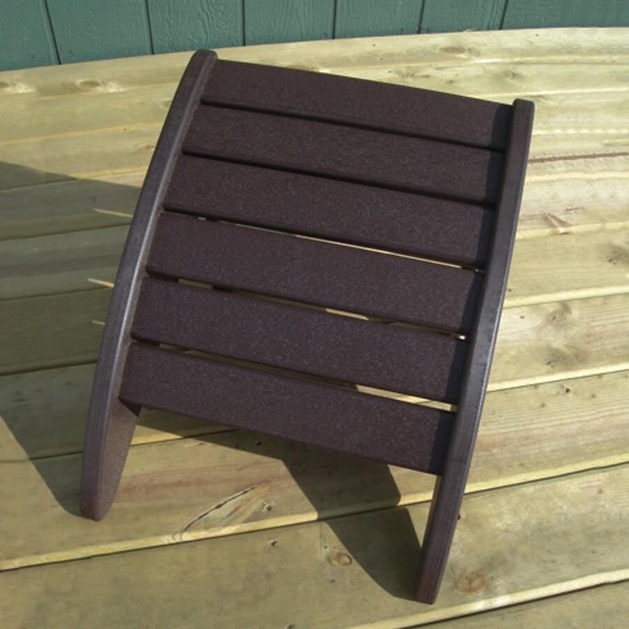 Phat Tommy Espresso Recycled Plastic Foot Stool