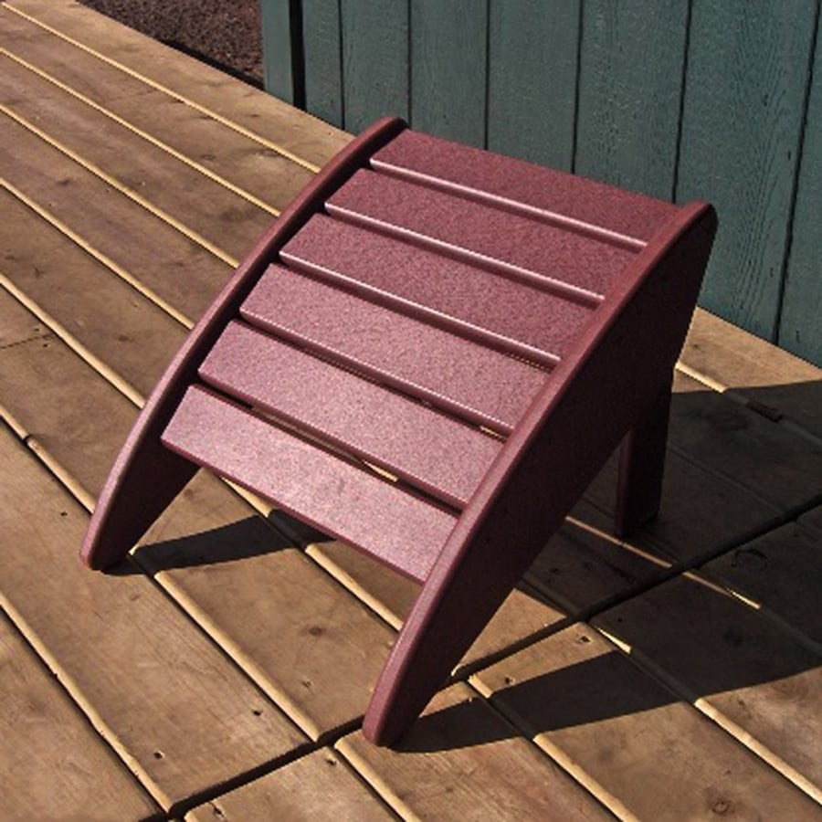 Phat Tommy Merlot Recycled Plastic Foot Stool