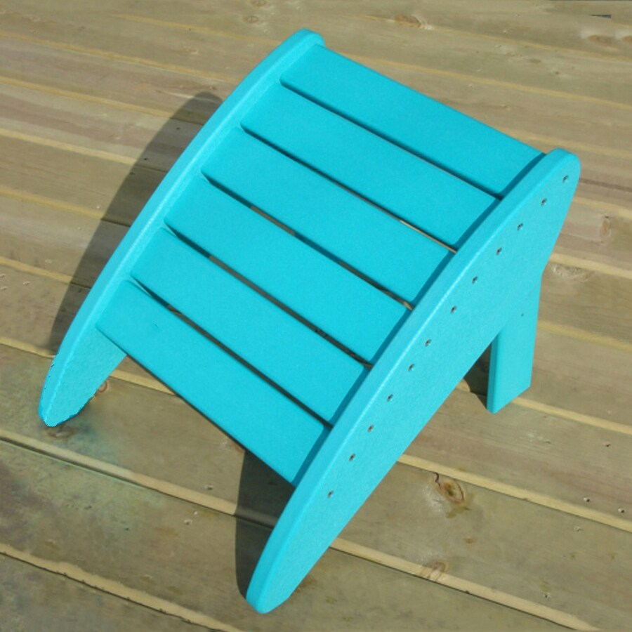 Phat Tommy Teal Recycled Plastic Foot Stool