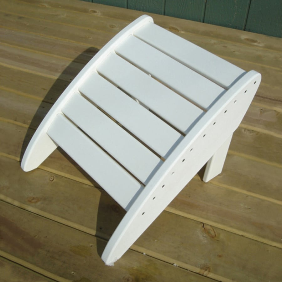 Phat Tommy Alpine White Recycled Plastic Foot Stool