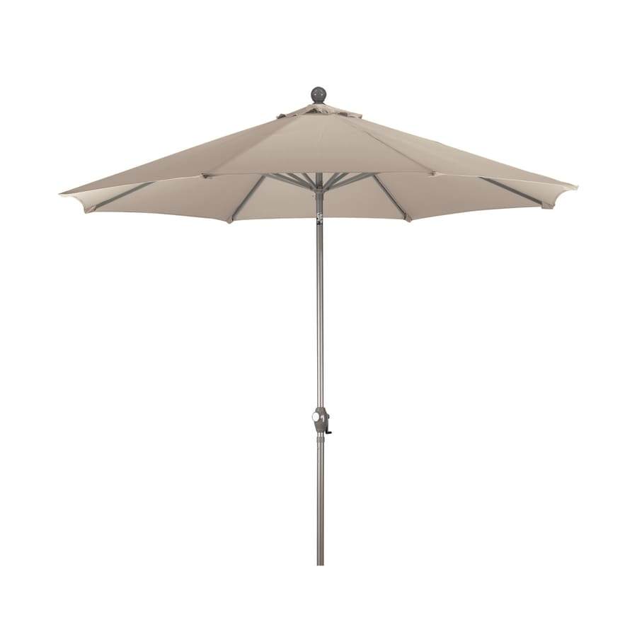 Phat Tommy Champagne Market Patio Umbrella (Common: 9-ft W x 9-ft L; Actual: 9-ft W x 9-ft L)