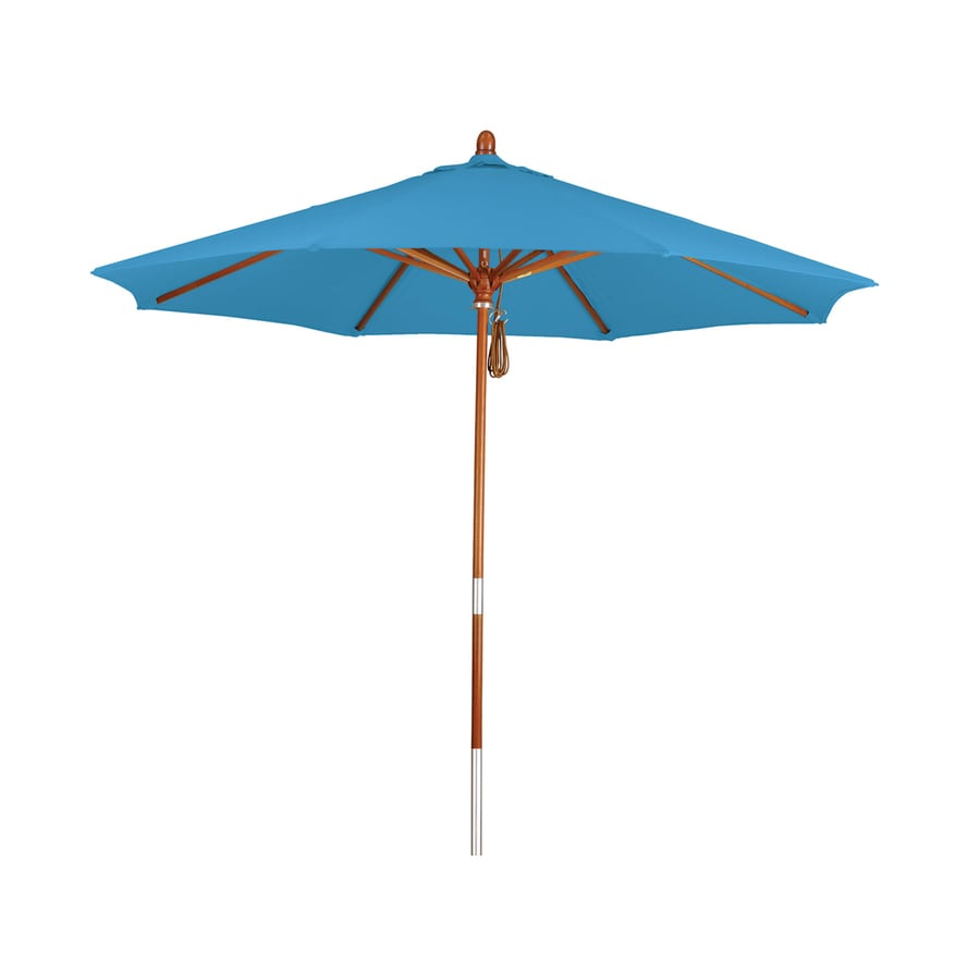 Phat Tommy Capri Market Patio Umbrella (Common: 9-ft W x 9-ft L; Actual: 9-ft W x 9-ft L)