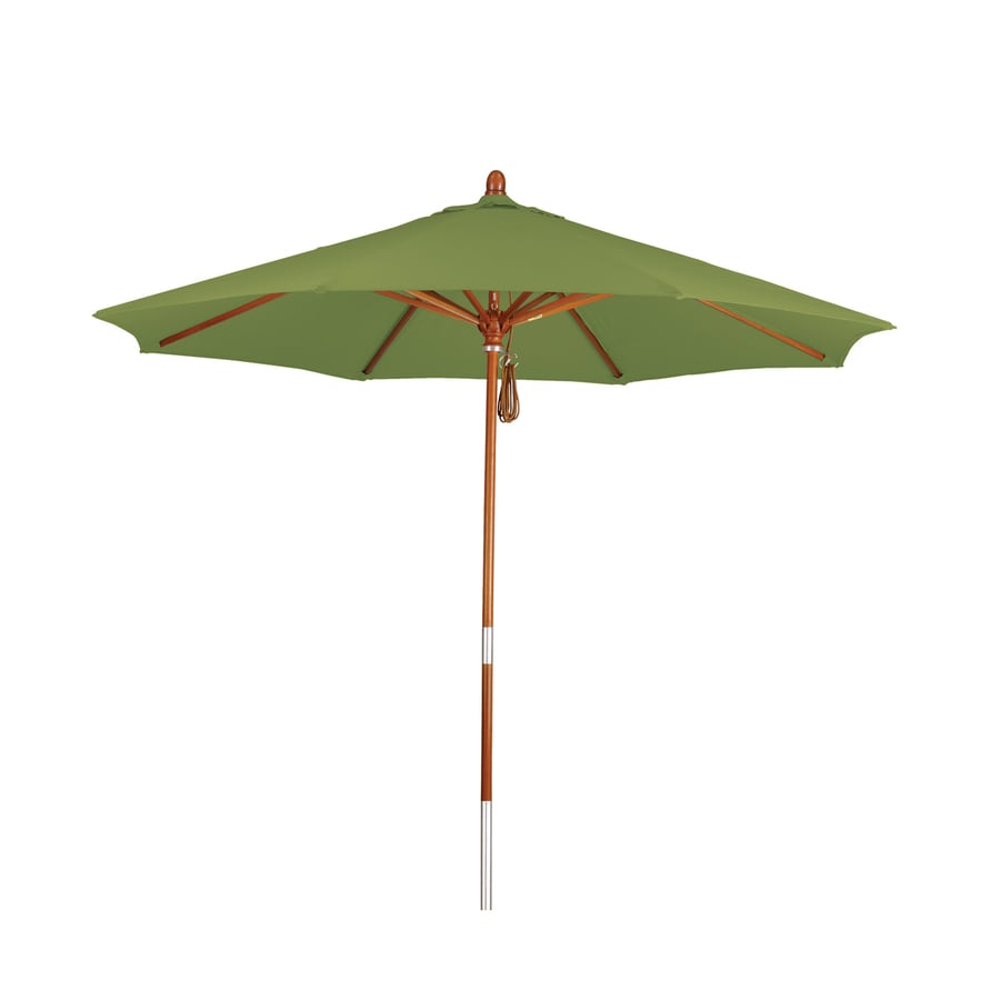 Phat Tommy Gingko Market Patio Umbrella (Common: 9-ft W x 9-ft L; Actual: 9-ft W x 9-ft L)