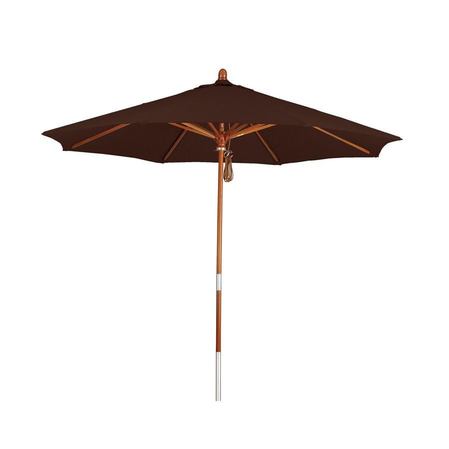 Phat Tommy Mocha Market Patio Umbrella (Common: 9-ft W x 9-ft L; Actual: 9-ft W x 9-ft L)